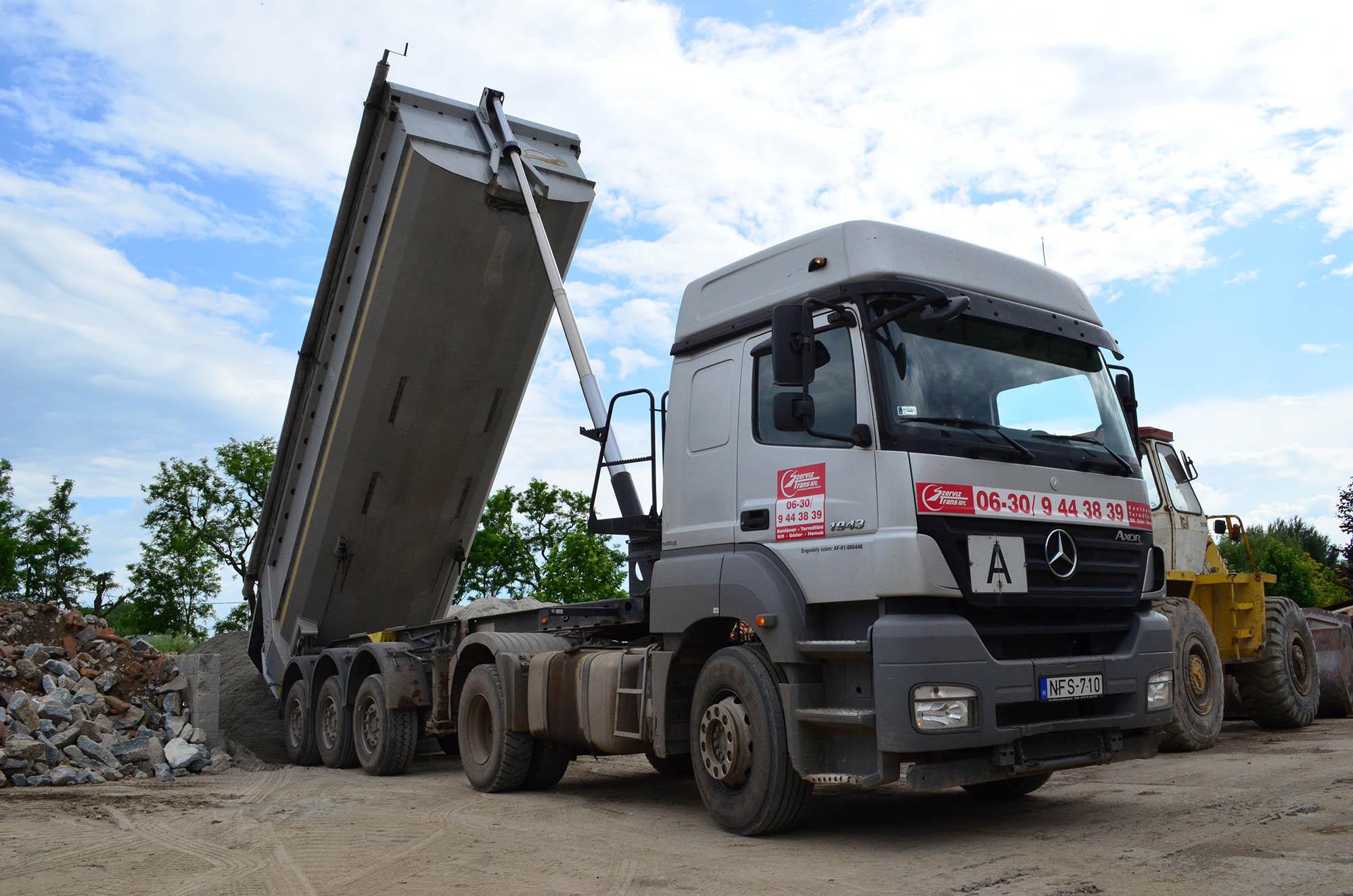 Sóder szállítás Tisztviselőtelep